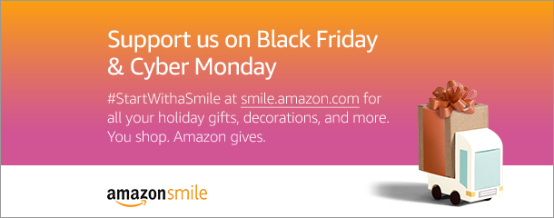 Support us when you shop on Black Friday and Cyber Monday. #StartWithaSmile at smile.amazon.com/ch/16-1429466 and Amazon donates to Syracuse Gay & Lesbian Chorus!